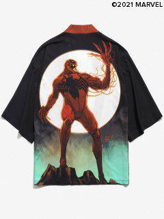CardiganKimonoOuvertenAvant Marvel Spider-ManImprimé - Noir S