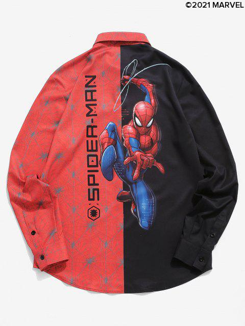 Marvel Spider-Man contrasto Stampa Graphic shirt - Nero S Mobile