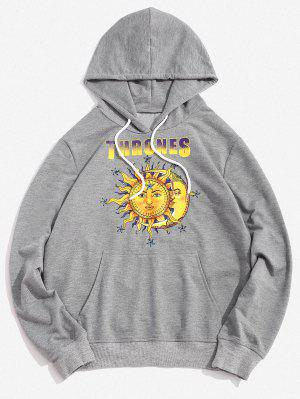 zaful Thrones Celestial Sun and Moon Graphic Hoodie