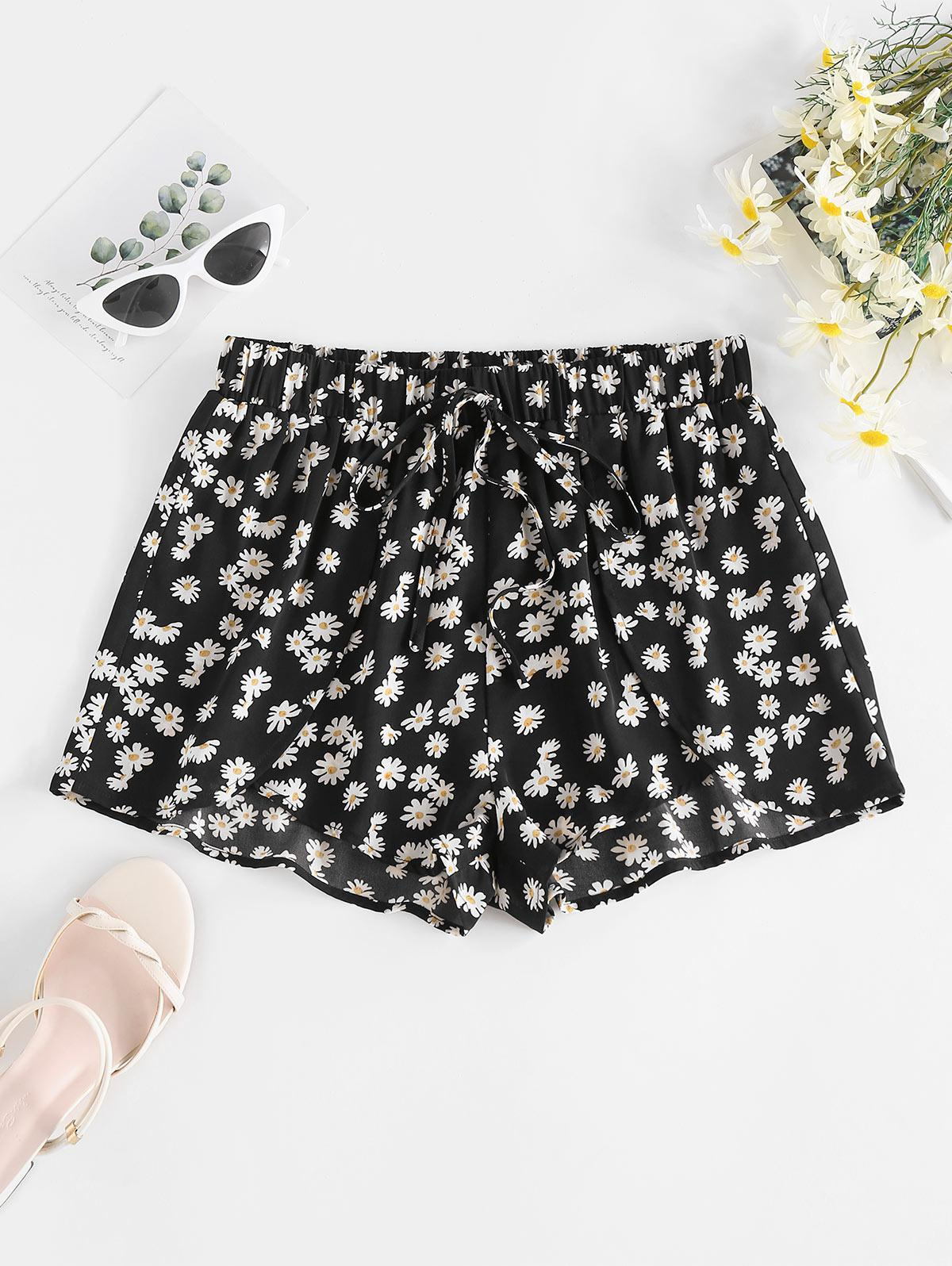 Zaful Daisy Floral Shorts