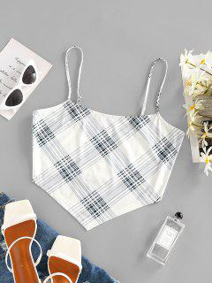 ZAFUL Plaid Cami Bandana Top - White S