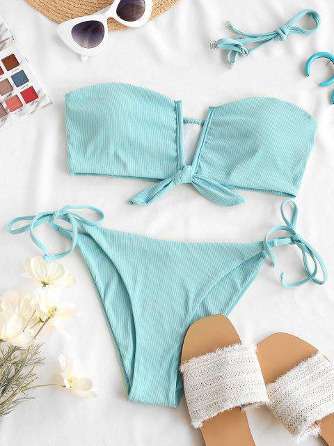 ZAFUL Maillot de Bain Bikini à Armature en V - Bleu clair S Mobile