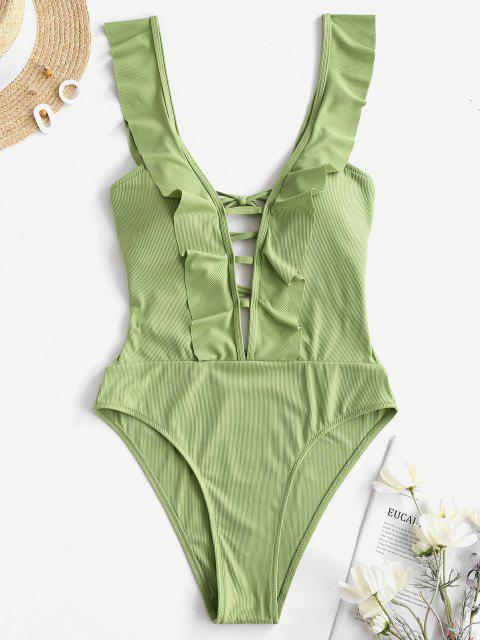 best ZAFUL Noble Youth One-piece - GREEN PEAS S Mobile