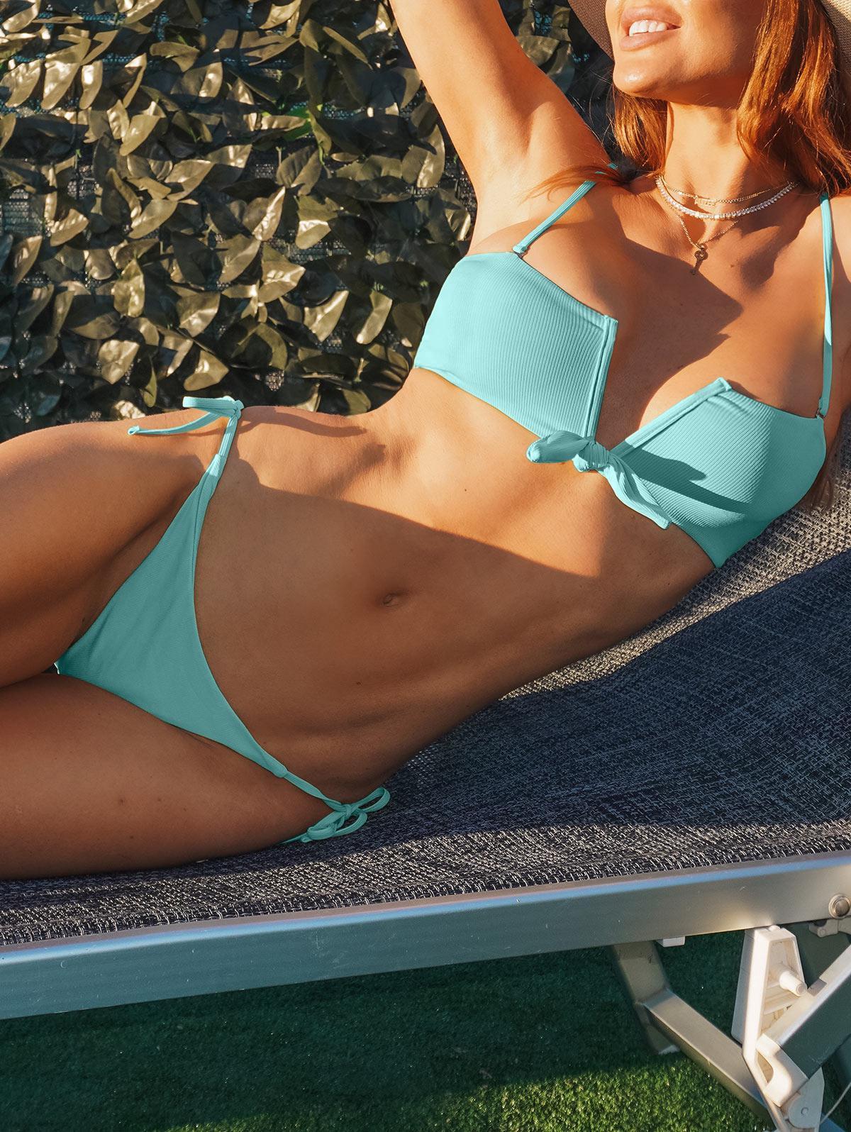 ZAFUL Winds Of Blue V Wired Bikini Swimwear