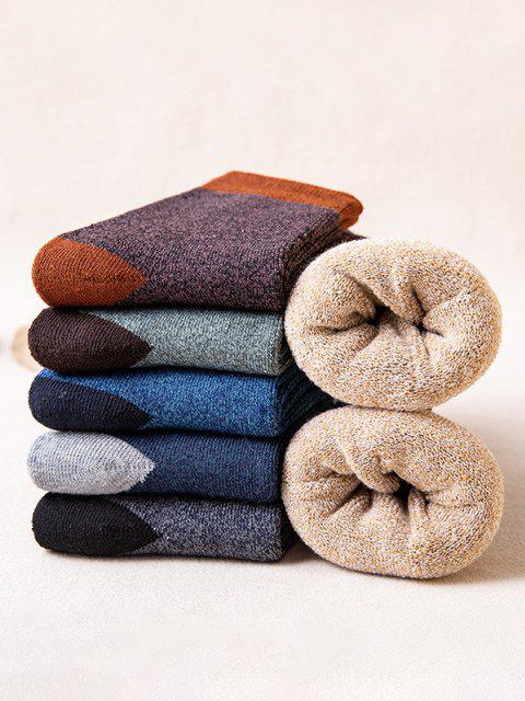 trendy 6 Pairs Colorblock Winter Socks Set - MULTI  Mobile