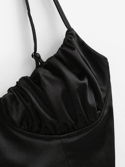 Haut Corset Soyeux à Lacets - Noir L Mobile