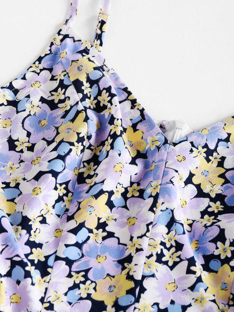 ZAFUL Blumendruck Mini Sommerkleid - Multi M Mobile