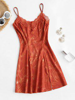 Mini Vestido De Tie-dye Con Abertura Frontal - Rojo S