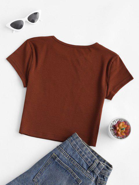 Camiseta Básica furcal longa - Café M Mobile