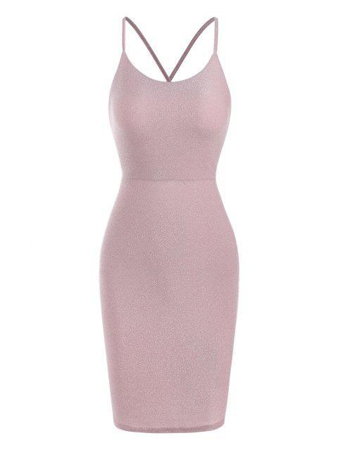 Party Vestito da Ballo Glitterato con Allacciatura Sul Retro - Rosa chiaro S Mobile