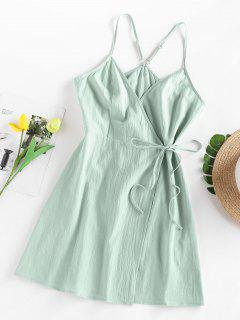 ZAFUL Side Tie Mini Sundress - Light Green S