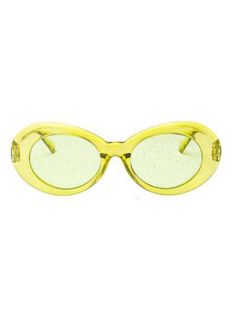 Ovale Transparentem Rahmen Glitter Kindertanzschuhe - Rasen Grün  Mobile