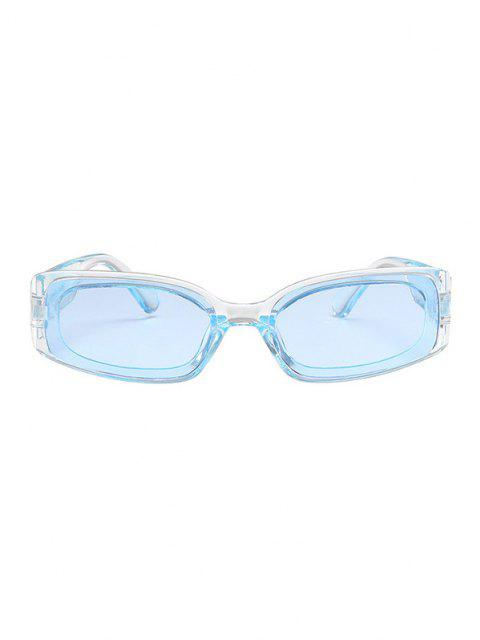 fashion Rectangle Transparent Frame Tinted Sunglasses - SKY BLUE  Mobile