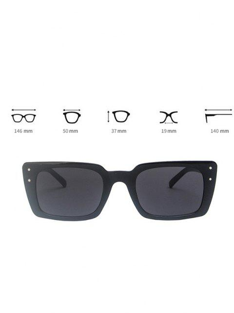 outfit Rectangle Frame Stud Oversize Sunglasses - BLACK  Mobile