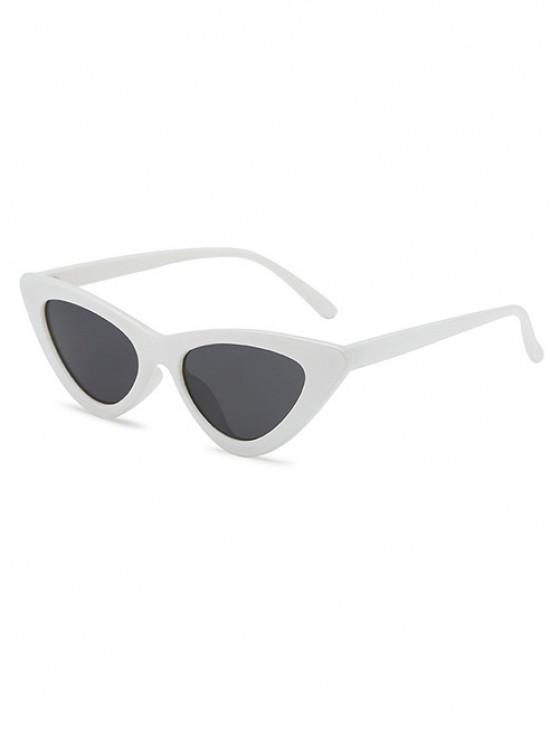 Retro Triangular Frame UV Protected Sunglasses - حليب ابيض