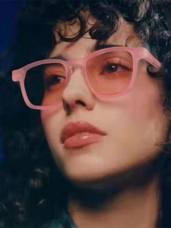 sale Translucent Square Frame Tinted Sunglasses - LIGHT PINK