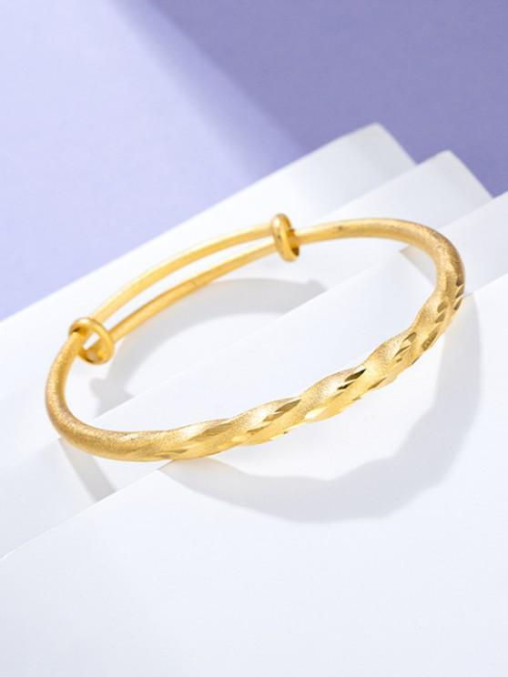 Twist Adjustable Gold Plated Bangle - ذهبي