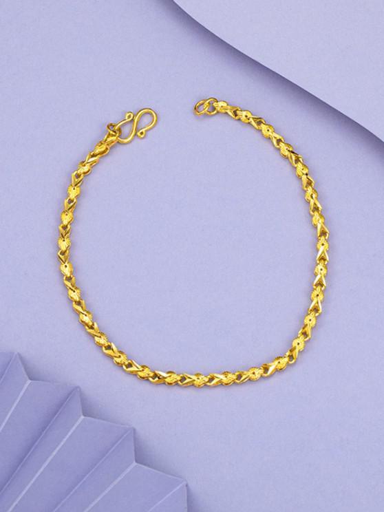 Pulseira de Cadeia de Ouro Banhado - Dourado