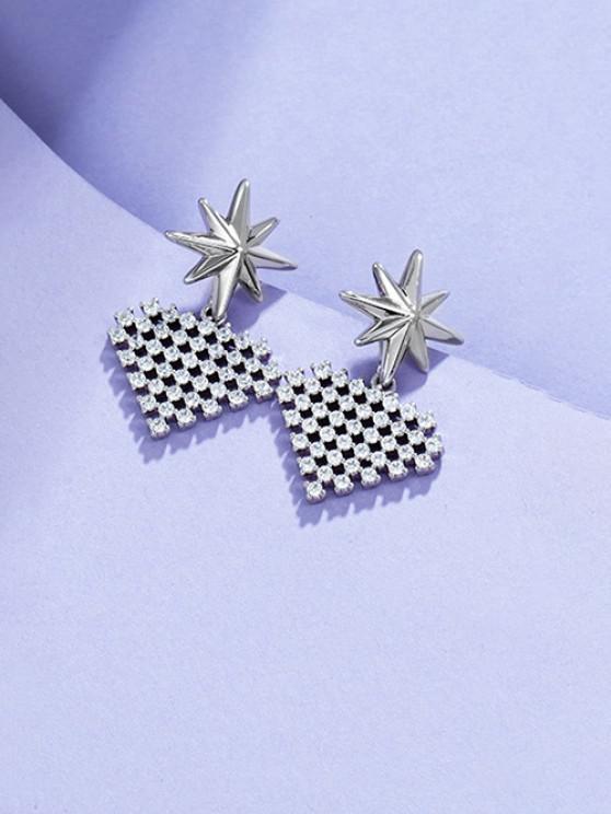 chic Star Heart-shaped Multi Zircon Earrings - SILVER