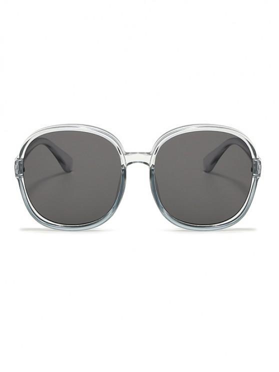 Classic Round Frame Oversize Sunglasses - رمادي فاتح