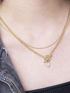 Lariat Layered Gold Plated Necklace - Golden