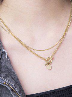 174cm Colar) / Em Camadas - Dourado