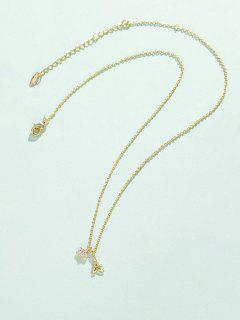Star Tower Pendant Necklace - Golden