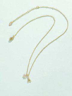 Stern Turm Anhänger Halskette - Golden