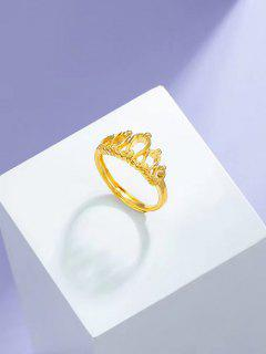 Krone Gold Vergoldeter Verstellbarer Ring - Golden