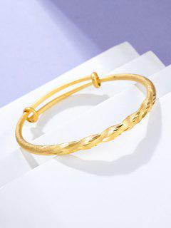 Twist Adjustable Gold Plated Bangle - Golden