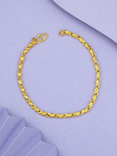 Retro Gold Plated Chain Bracelet - Golden