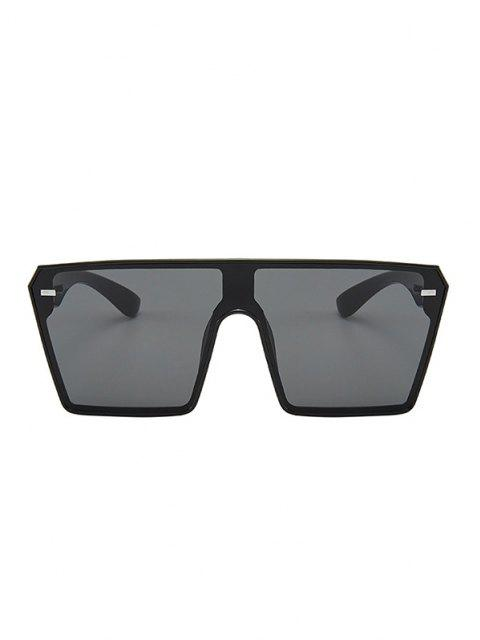 women's Oversize Square Frame Flat-Top Futuristic Sunglasses - BLACK  Mobile