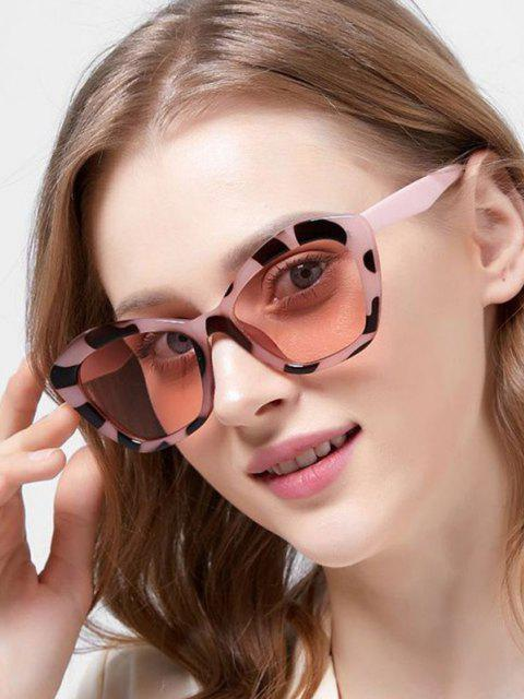 women Butterfly Frame Tinted Oversize Sunglasses - LEOPARD  Mobile