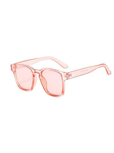 sale Translucent Square Frame Tinted Sunglasses - LIGHT PINK  Mobile