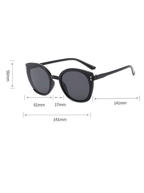 affordable Oversized Butterfly-Frame Double Stud Sunglasses - BLACK  Mobile