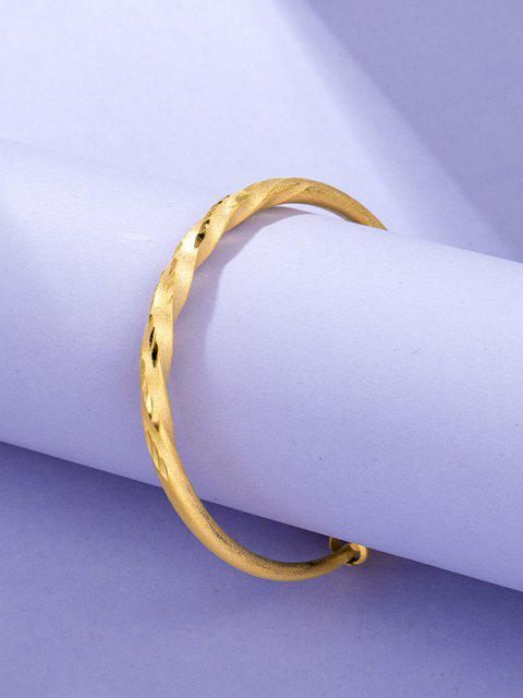 chic Twist Adjustable Gold Plated Bangle - GOLDEN  Mobile