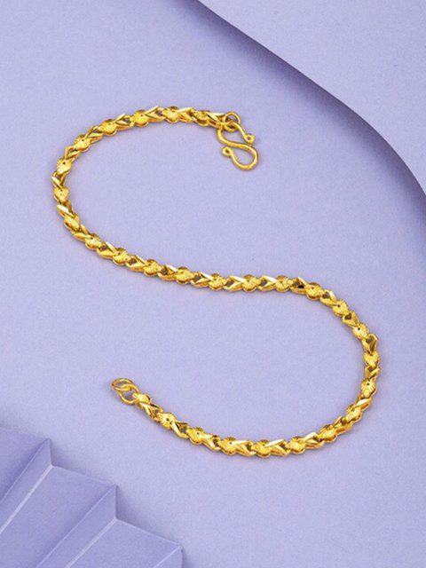 Bracelet en Chaîne Plaquée Or Style Rétro - d'or  Mobile