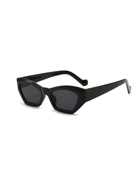 women's Retro Eye Frame Angular Sunglasses - BLACK  Mobile