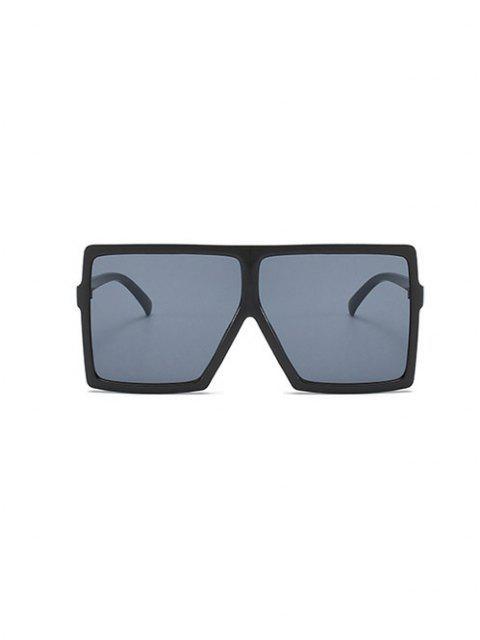 Übergröße Flache Quadrat Top Anti UV Sonnenbrille - Schwarz  Mobile
