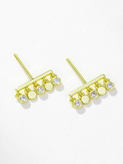 Aretes de Circón con Flecos - dorado  Mobile