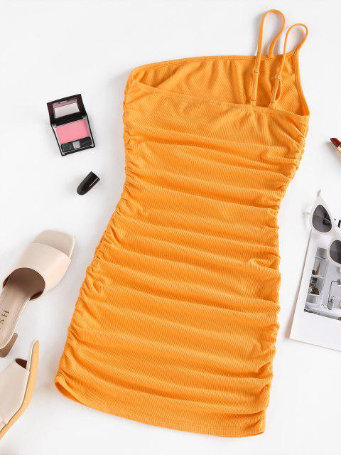 Vestito Aderente a Costine a Monospalla di ZAFUL - Arancio M Mobile