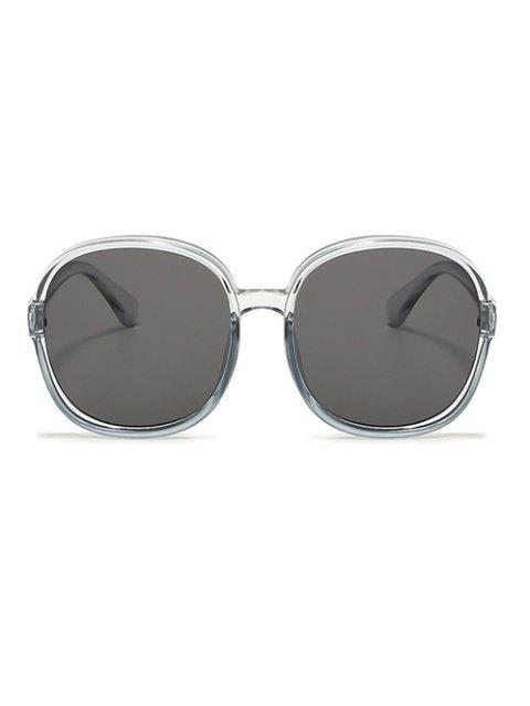 outfits Classic Round Frame Oversize Sunglasses - LIGHT GRAY  Mobile