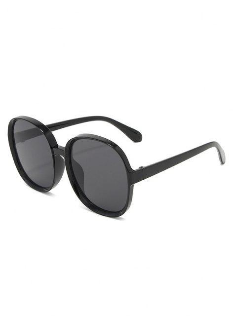 fancy Classic Round Frame Oversize Sunglasses - BLACK  Mobile