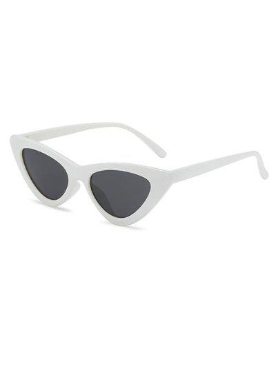 Retro Triangular Frame UV Protected Sunglasses - Milk White