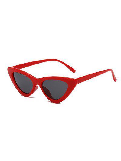 Retro Triangular Frame UV Protected Sunglasses - Red