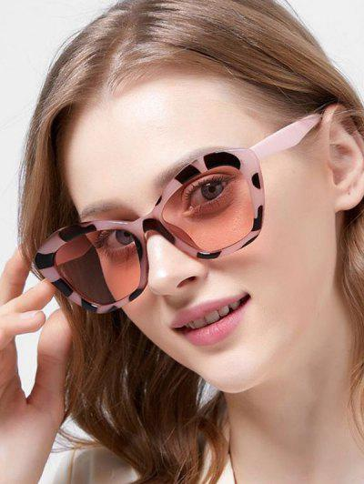 Butterfly Frame Tinted Oversize Sunglasses - Leopard