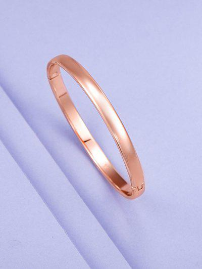 Minimalist Rose Gold Plated Bangle - Rose Gold L