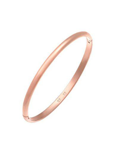 Minimalist Rose Gold Plated Bangle - Rose Gold M