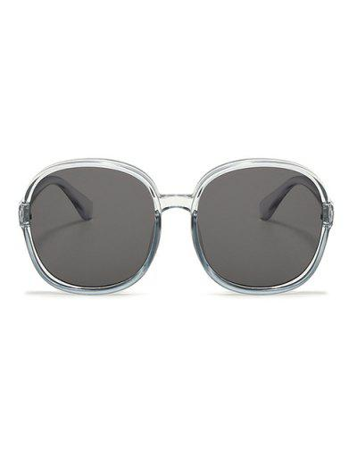 Classic Round Frame Oversize Sunglasses - Light Gray