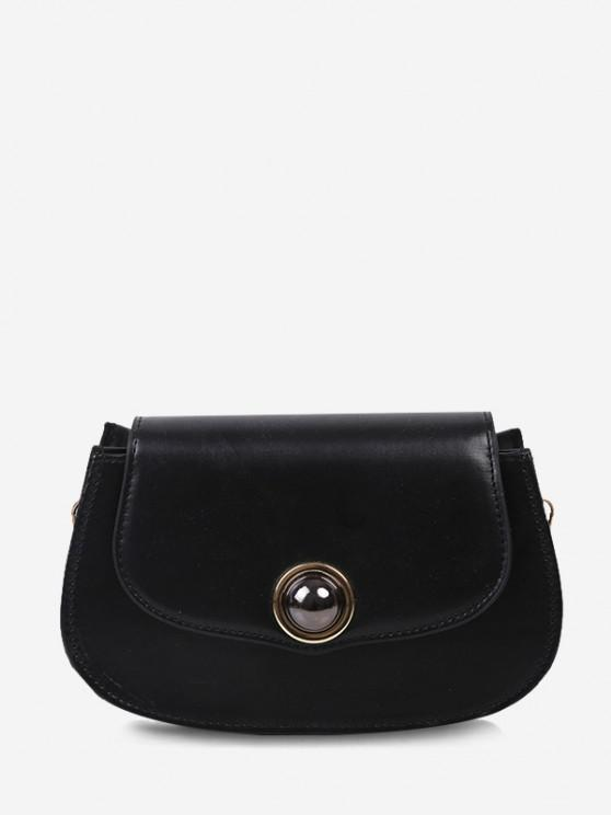 Kugelförmige Perlenkette Crossbody Bag - Schwarz